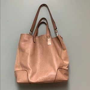 Coach tan non structured leather bag